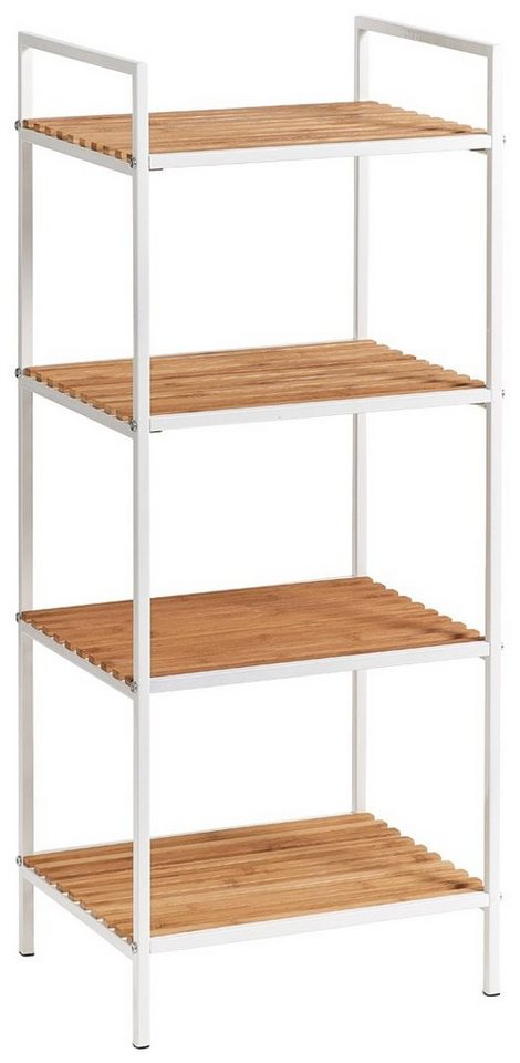 zeller regal standregal 4 b den bamboo metall wei online kaufen otto. Black Bedroom Furniture Sets. Home Design Ideas