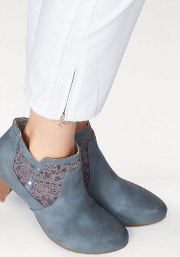MAC Ankle-Jeans Melanie Zip, Verkürzte Form und Galonstreifen