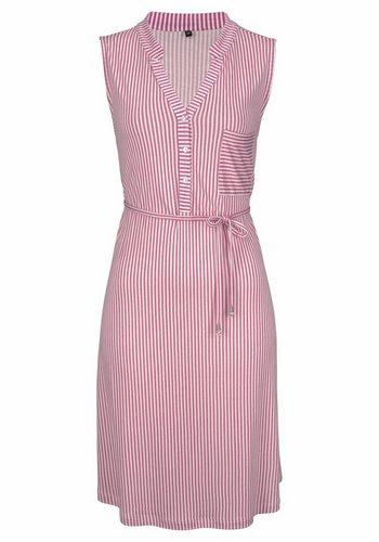 Damen s.Oliver RED LABEL Beachwear Strandkleid mit Bindegürtel rot | 08698826380417