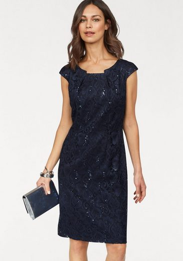 Select! By Hermann Long Lace Dress, Lace Sequined Dress