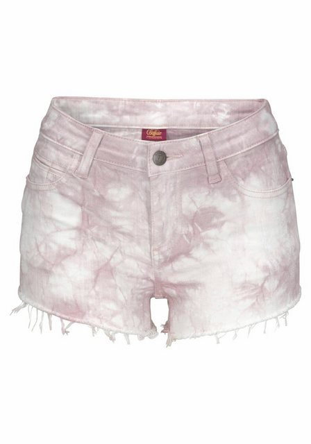 Hosen - Buffalo Jeanshotpants mit Fransen am Saum › lila  - Onlineshop OTTO