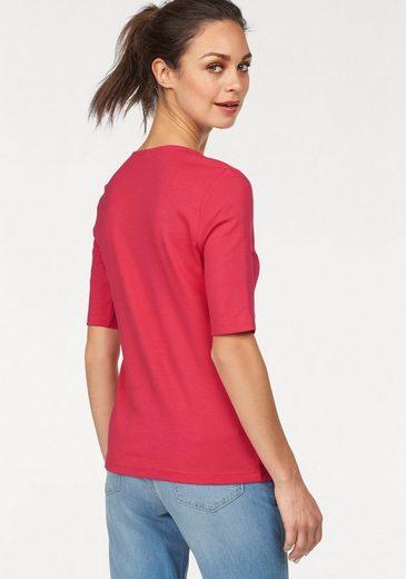 Olsen V-Shirt, mit Dekoplättchen am Ausschnitt