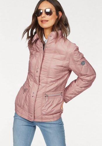 Damen windfield By DANWEAR Steppjacke Steppjacke leichter wattiert mit Stehkragen rosa | 05710289997629