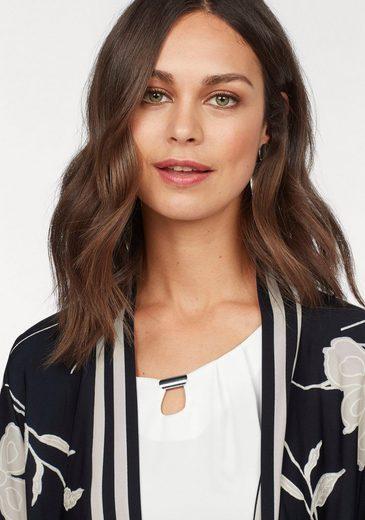 HERMANN LANGE Collection Shirtjacke, festliche Jersey-Jacke mit floralem Druck