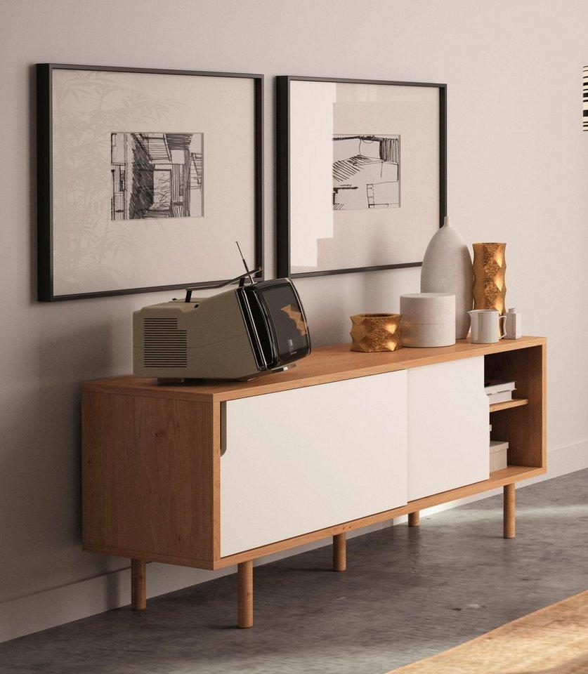 andas sideboard dann mit zwei schiebet ren breite 135. Black Bedroom Furniture Sets. Home Design Ideas