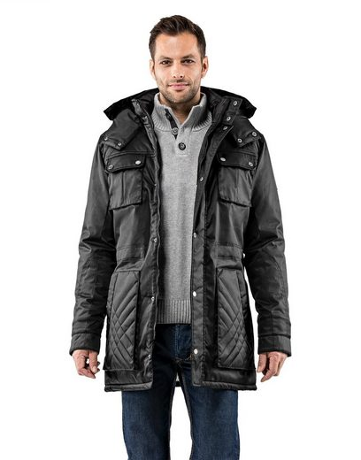 Vincenzo Boretti Winter Jacket With Quilted-design