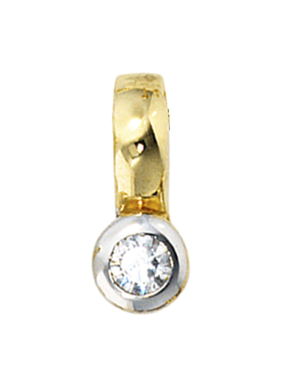 Adelia´s Kettenanhänger »Anhänger« 333 Gold mit Zirkonia