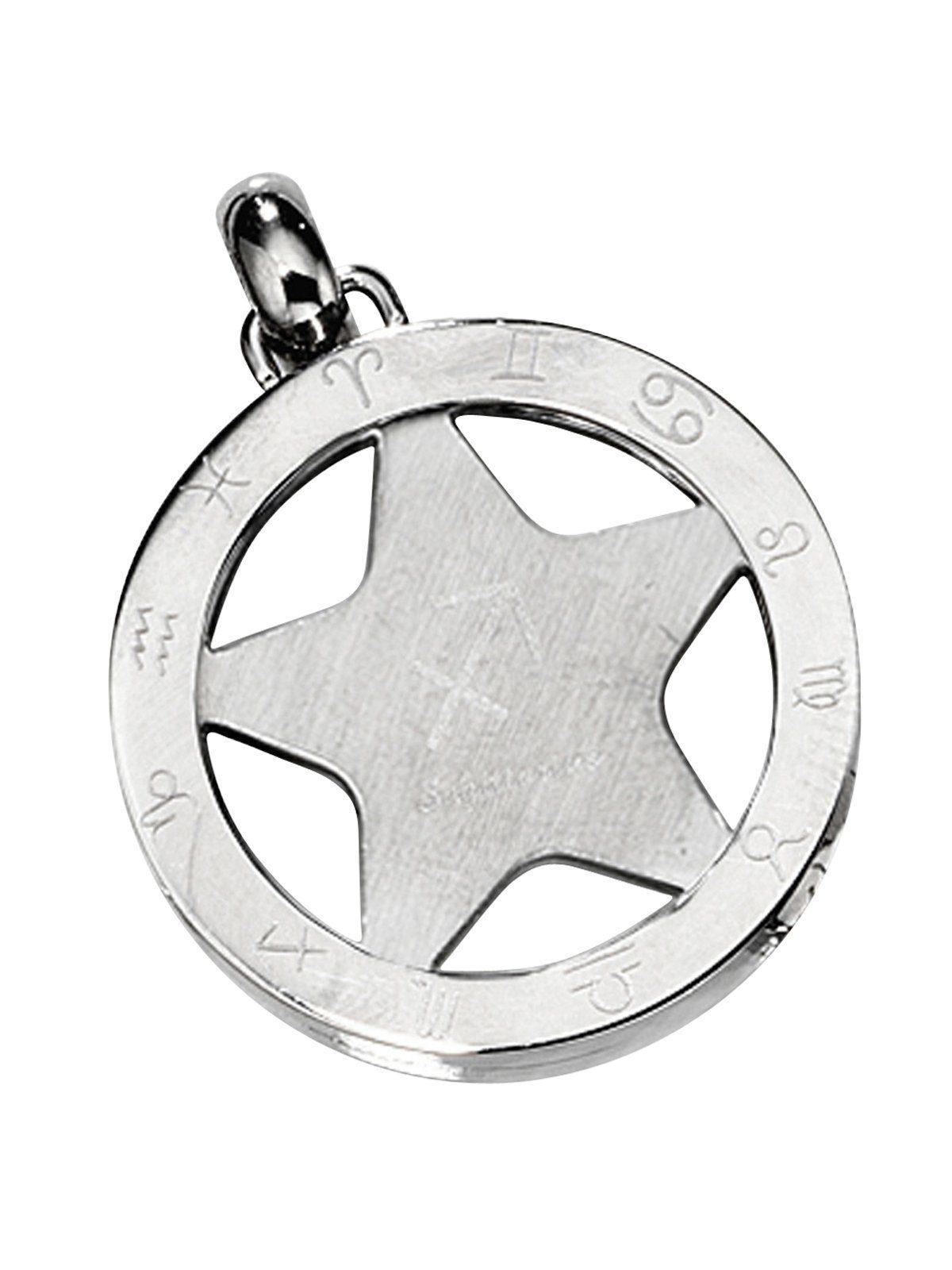 Adelia´s Sternzeichenanhänger »Sternzeichen Schütze Anhänger« Edelstahl Ø 24,90 mm
