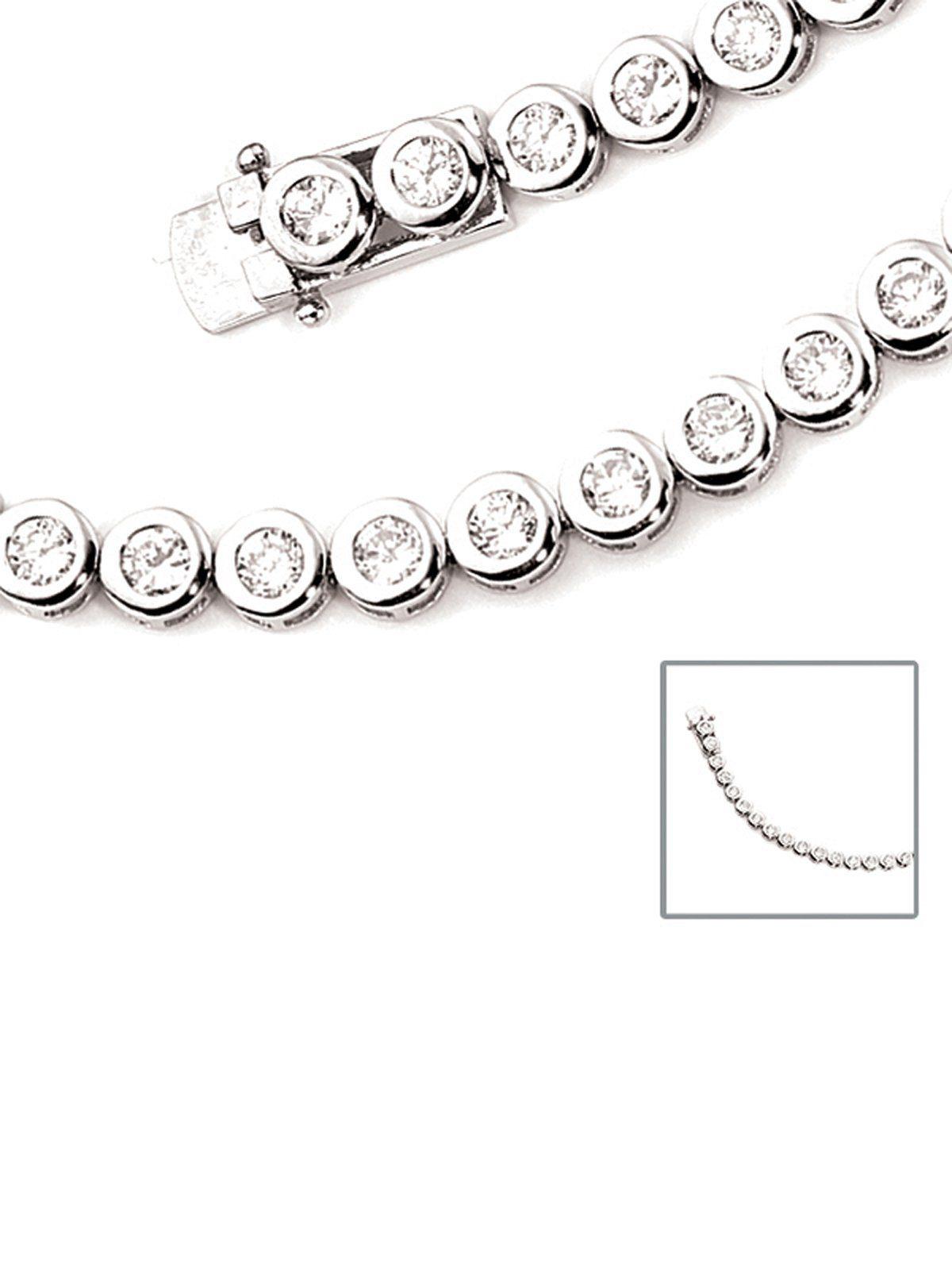 Adelia´s Armband 925 Silber mit Zirkonia L - 19 cm