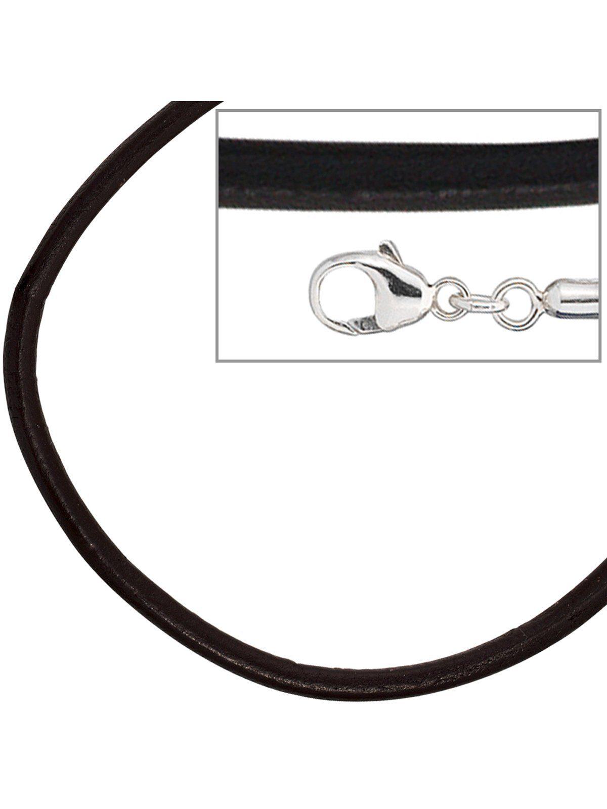 Adelia´s Lederband 925 Silber Ø 2,00 mm L - 70 cm
