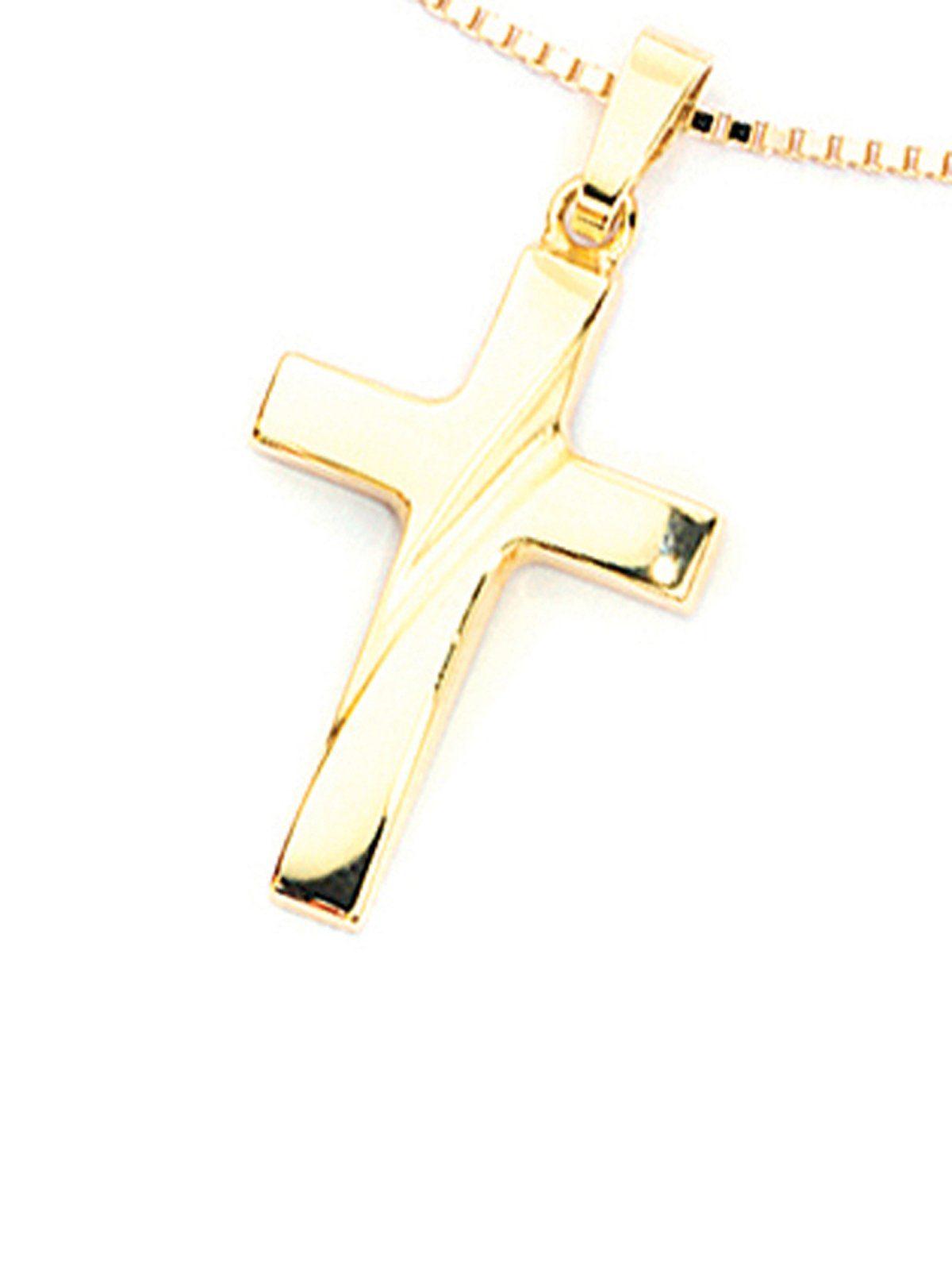 Adelia´s Kettenanhänger »Kreuz Anhänger« 333 Gold