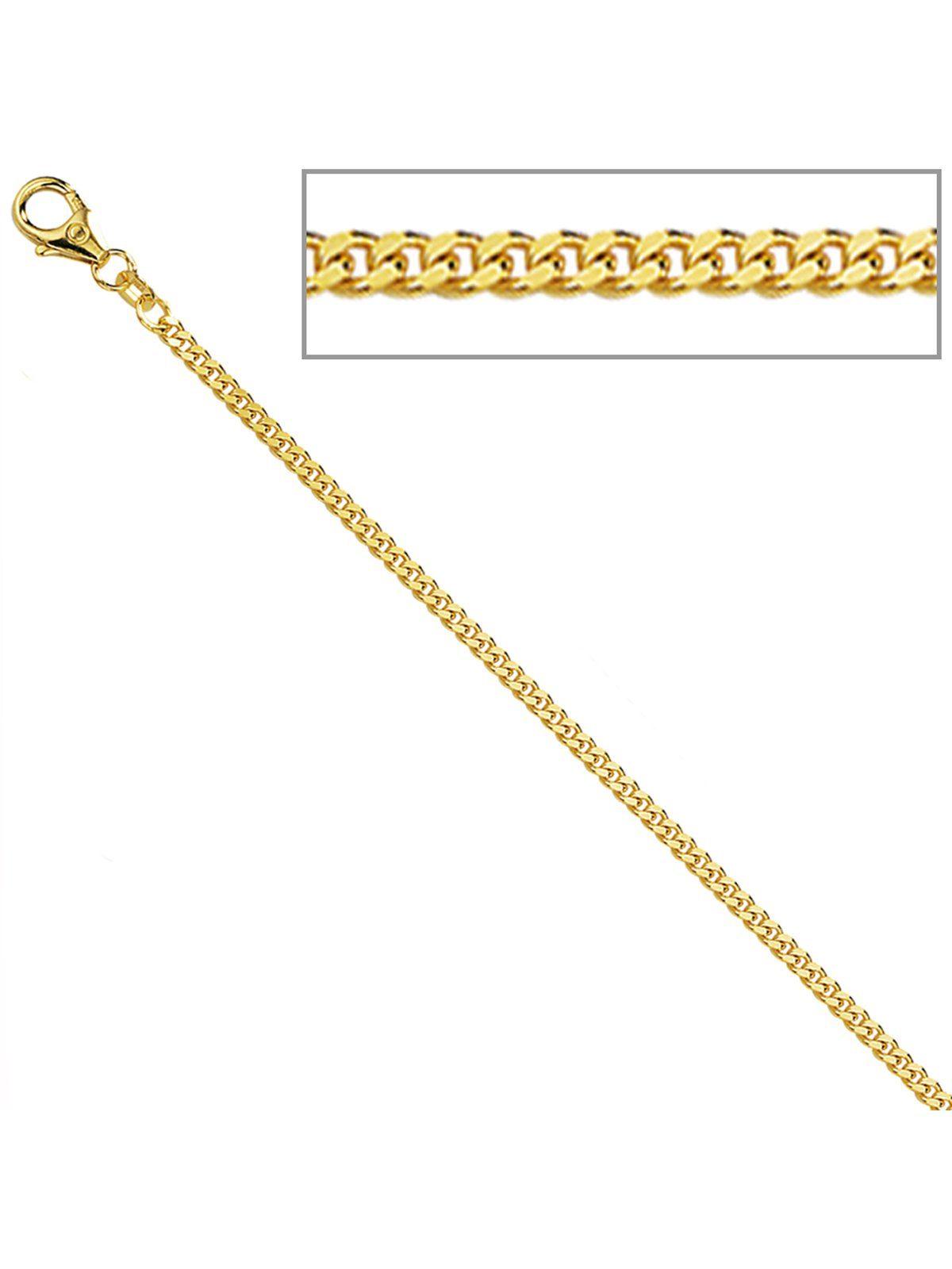 Adelia´s Kette ohne Anhänger »Panzerkette«, 333 Gold mit Diamant