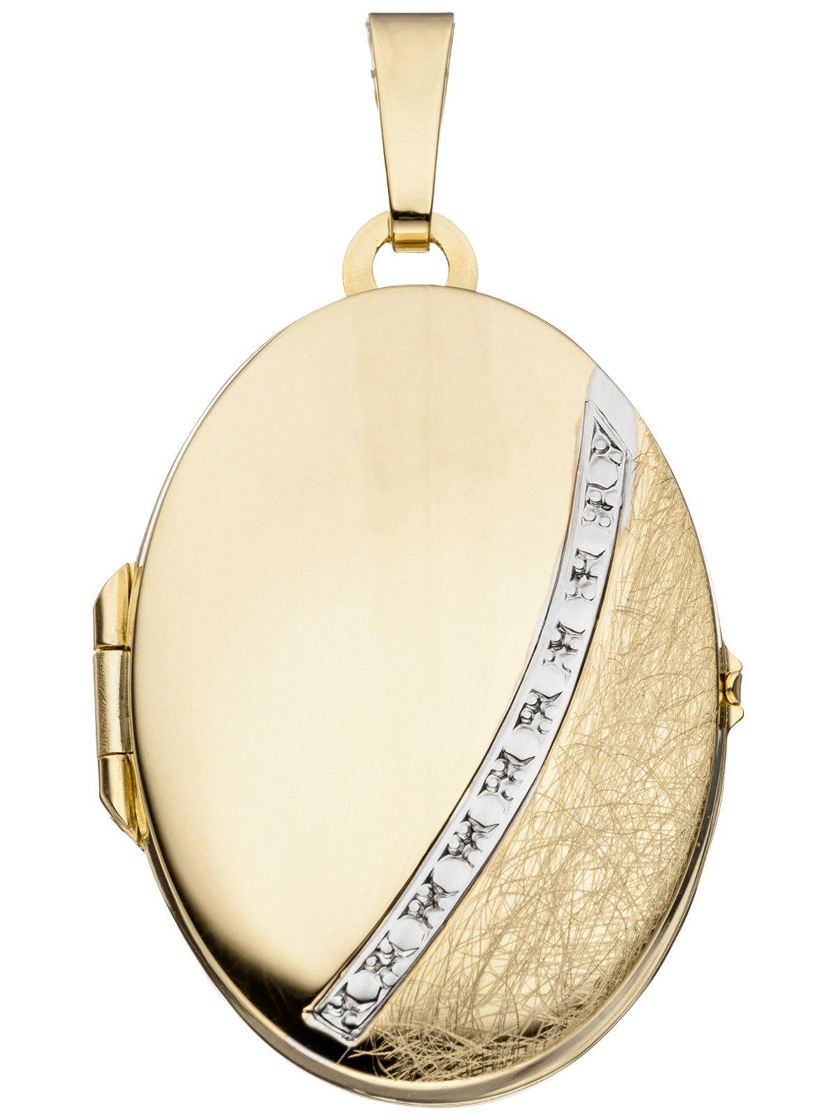 Adelia´s Kettenanhänger »Medaillon Anhänger«, 333 Gold