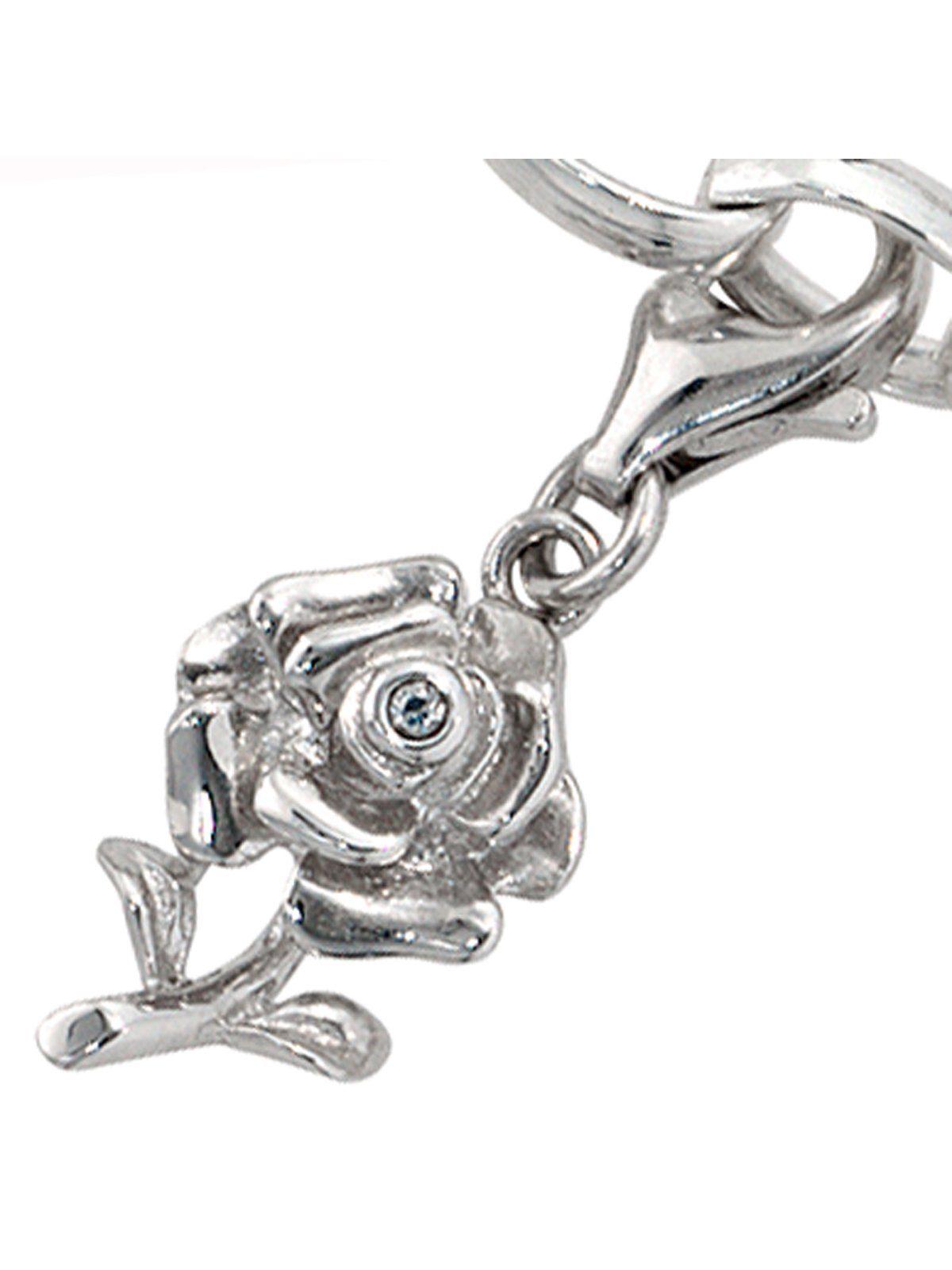 Adelia´s Kettenanhänger »Rose Anhänger« 925 Silber mit Zirkonia