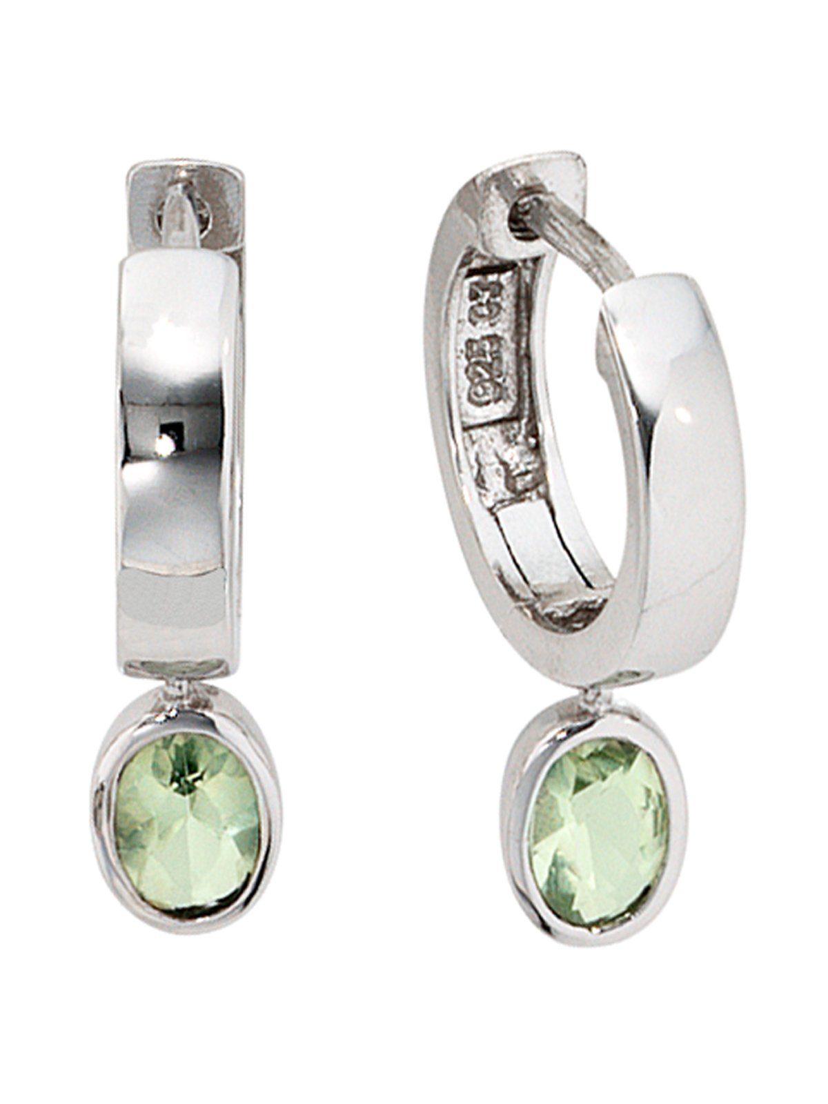 Adelia´s Paar Creolen 925 Silber mit Zirkonia
