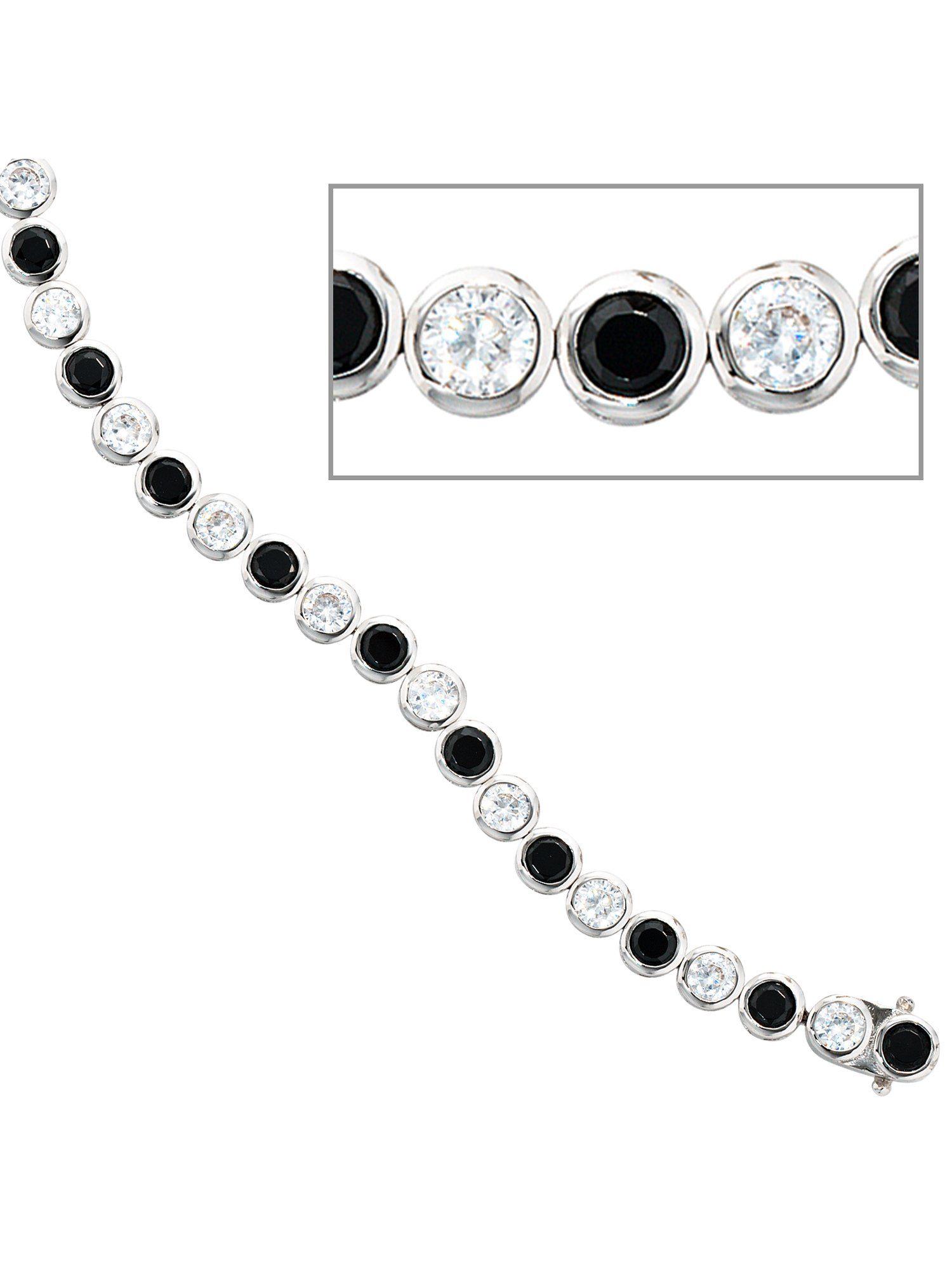 Adelia´s Armband, 925 Silber mit Zirkonia L - 19 cm