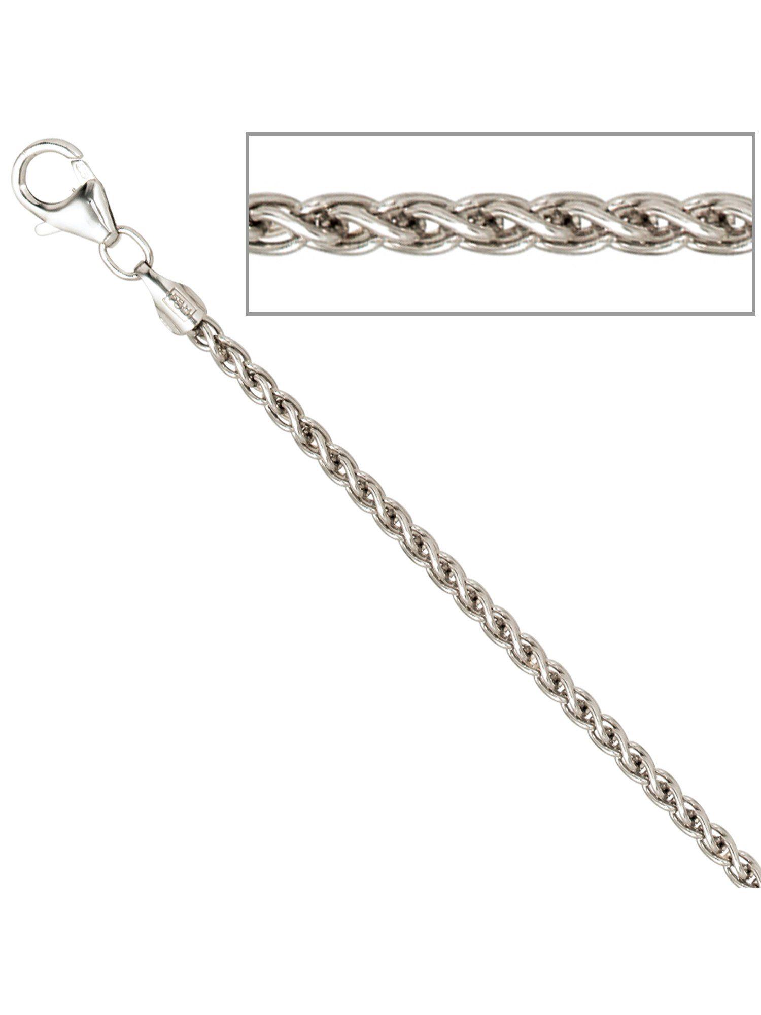 Adelia´s Kette ohne Anhänger »Zopfkette« 925 Silber L - 50 cm