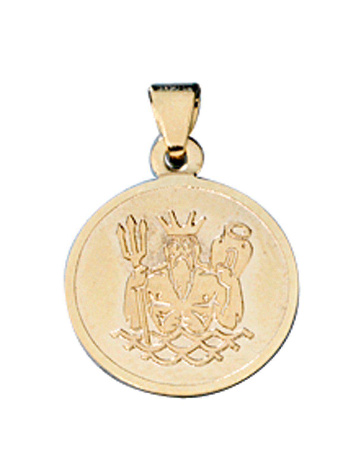 Adelia´s Sternzeichenanhänger »Sternzeichen Wassermann Anhänger« 333 Gold Ø 12,30 mm