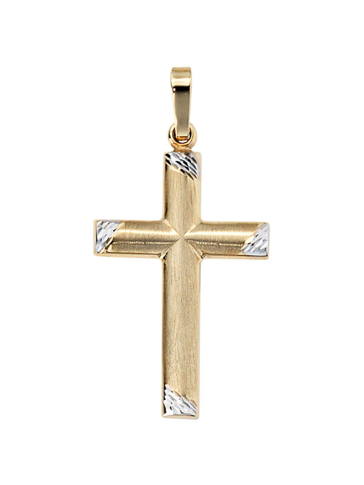 Adelia´s Kettenanhänger »Kreuz Anhänger«, 333 Gold