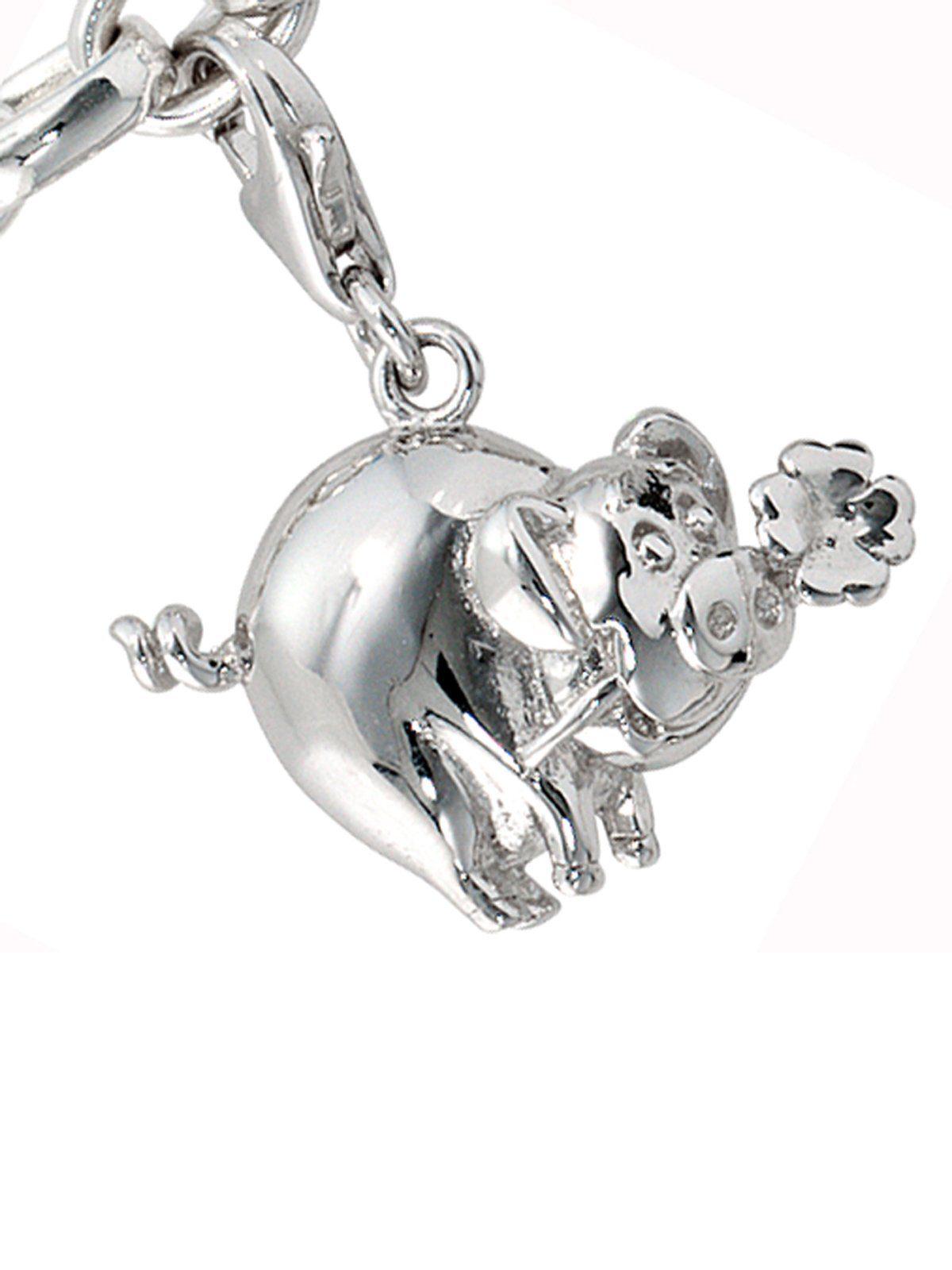 Adelia´s Kettenanhänger »Glücksschwein Anhänger« 925 Silber