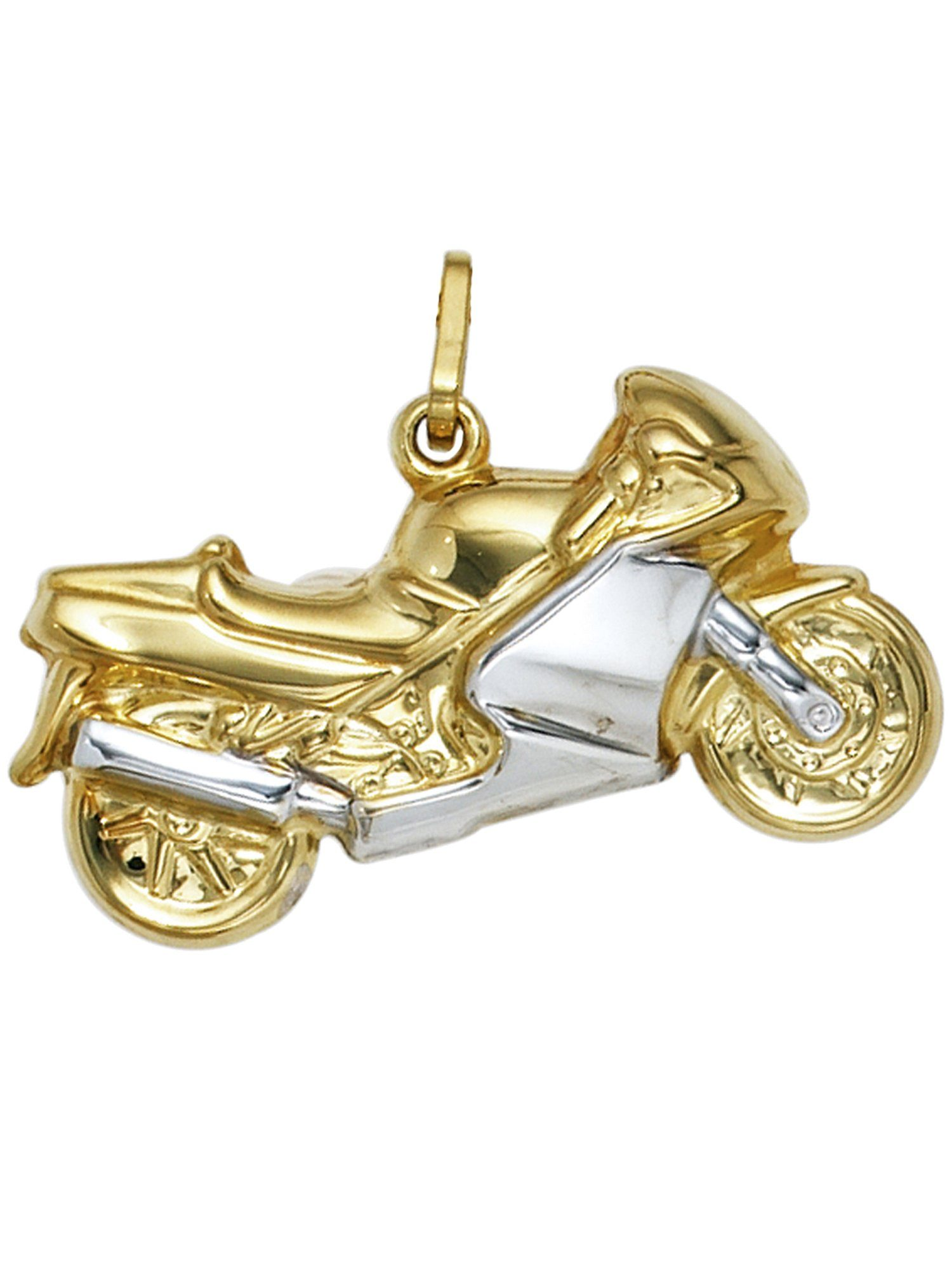 Adelia´s Kettenanhänger »Motorrad Anhänger« 333 Gold