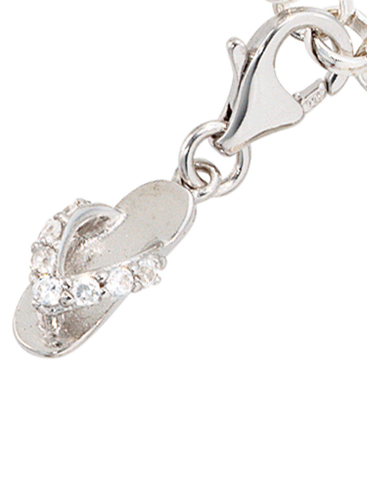Adelia´s Kettenanhänger »Flip-Flop Anhänger« 925 Silber mit Zirkonia
