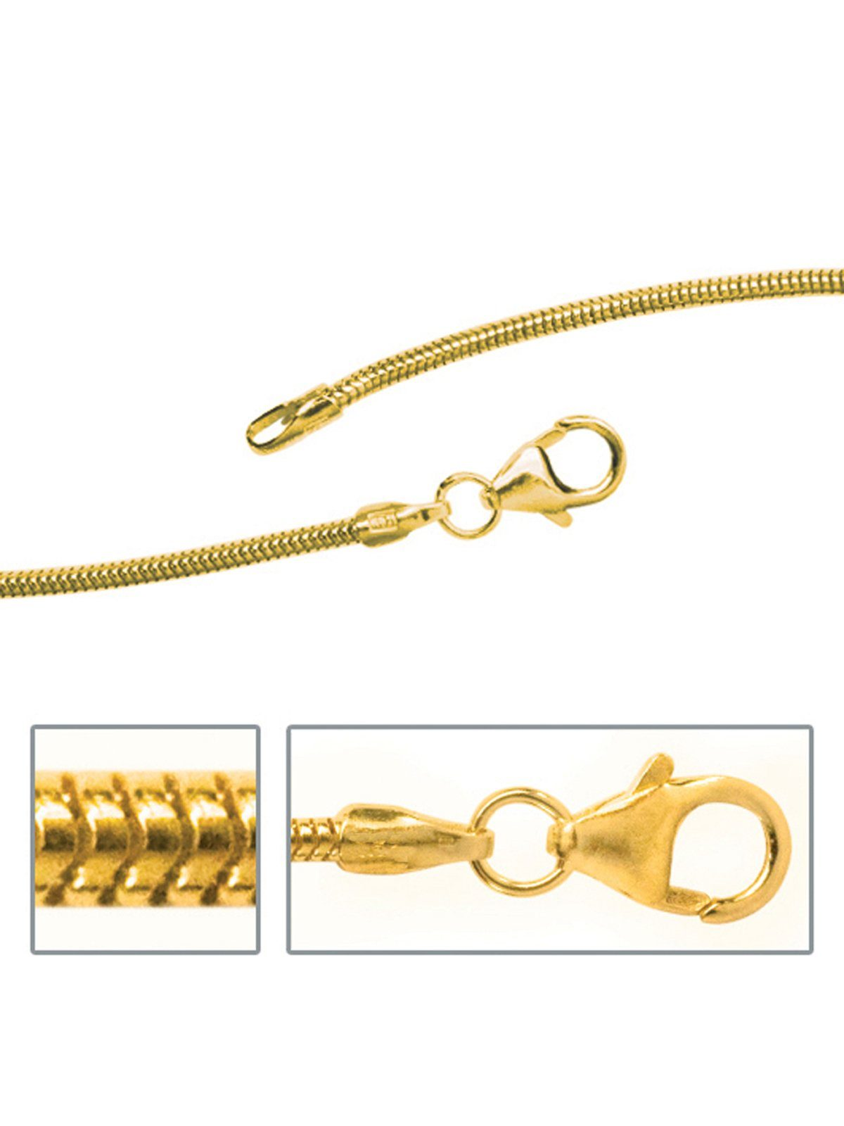 Adelia´s Kette ohne Anhänger »Schlangenkette«, 585 Gold