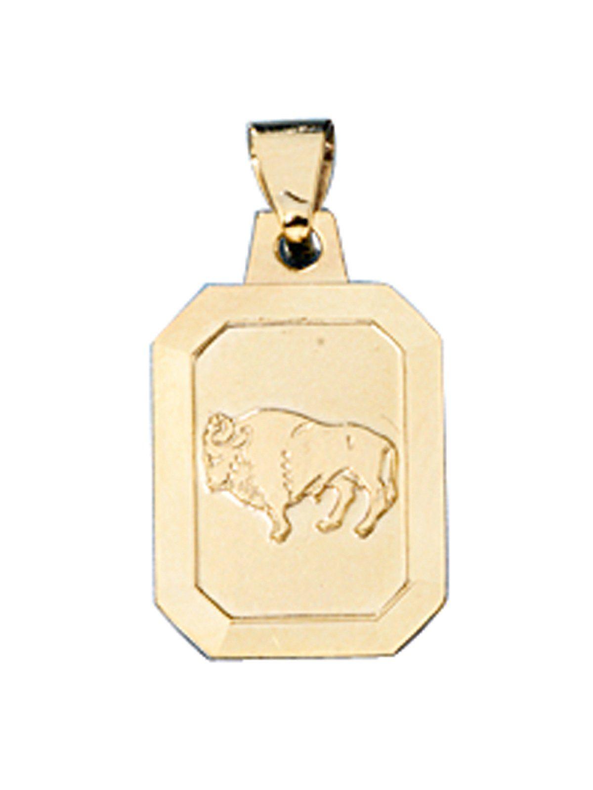 Adelia´s Sternzeichenanhänger »Sternzeichen Stier Anhänger« 333 Gold