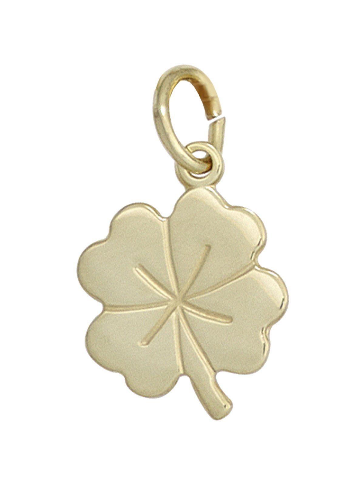 Adelia´s Kettenanhänger »Kleeblatt Anhänger«, 333 Gold