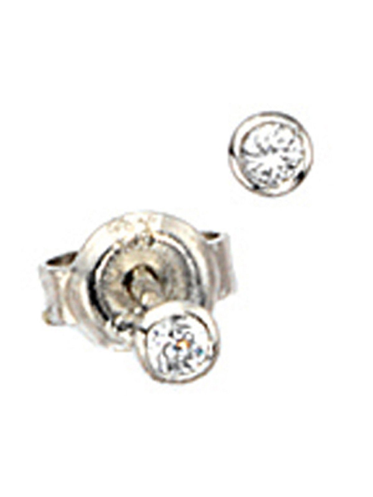Adelia´s Paar Ohrstecker 925 Silber mit Zirkonia Ø 2,90 mm