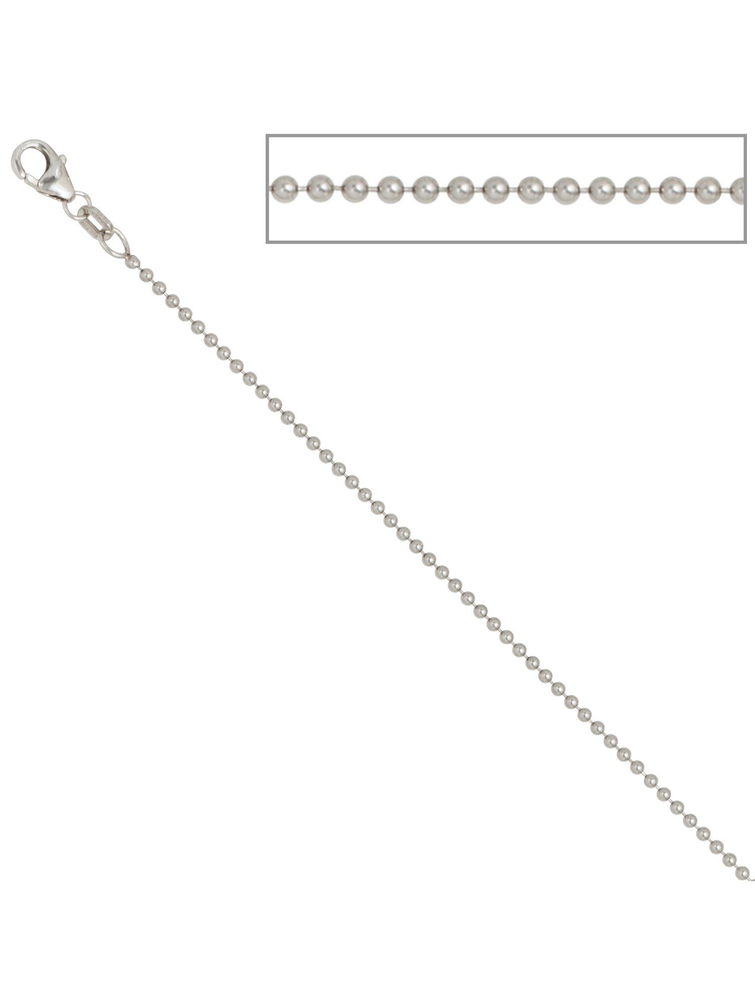 Adelia´s Kette ohne Anhänger »Kugelkette« 925 Silber Ø 1,40 mm L - 42 cm