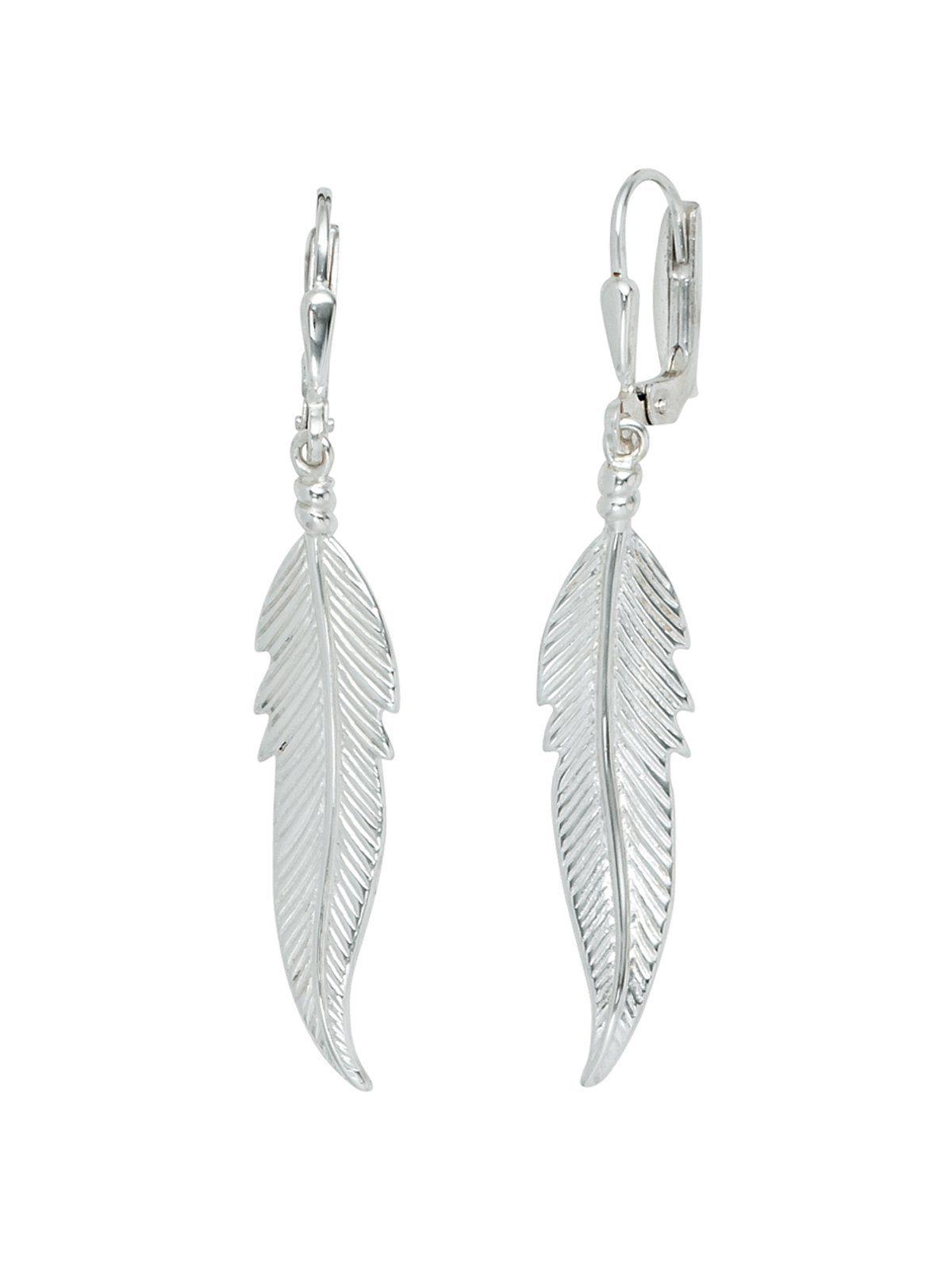 Adelia´s Paar Ohrhänger »Feder« 925 Silber