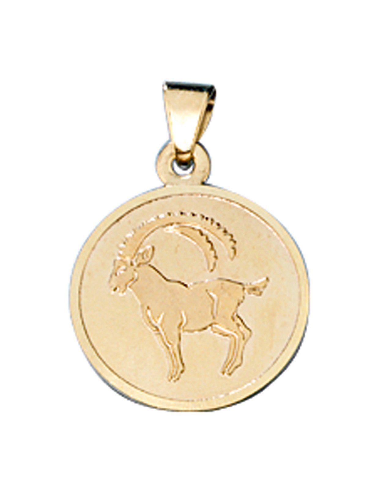 Adelia´s Kettenanhänger »Sternzeichen Steinbock Anhänger«, 333 Gold