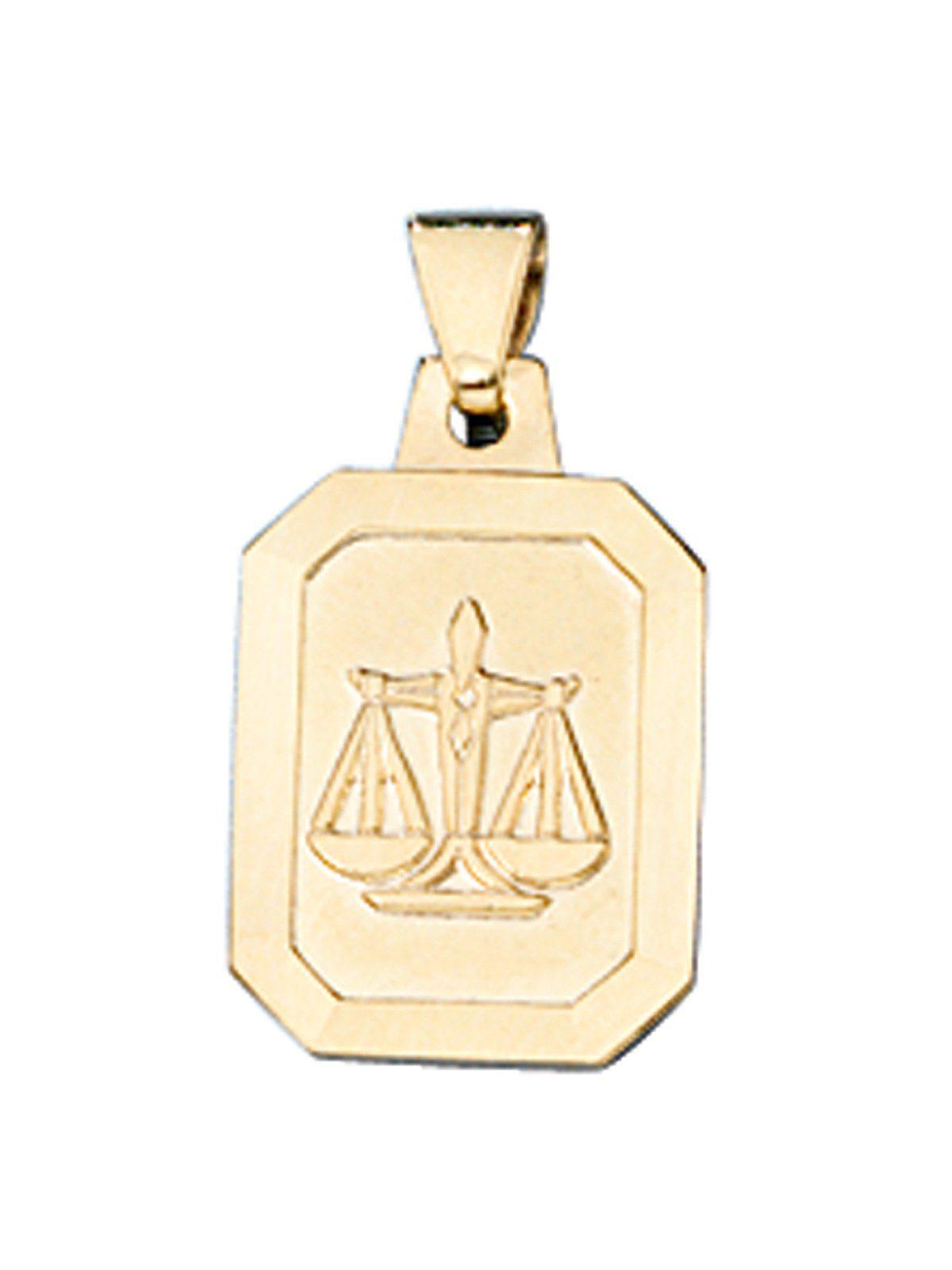 Adelia´s Sternzeichenanhänger »Sternzeichen Waage Anhänger« 333 Gold