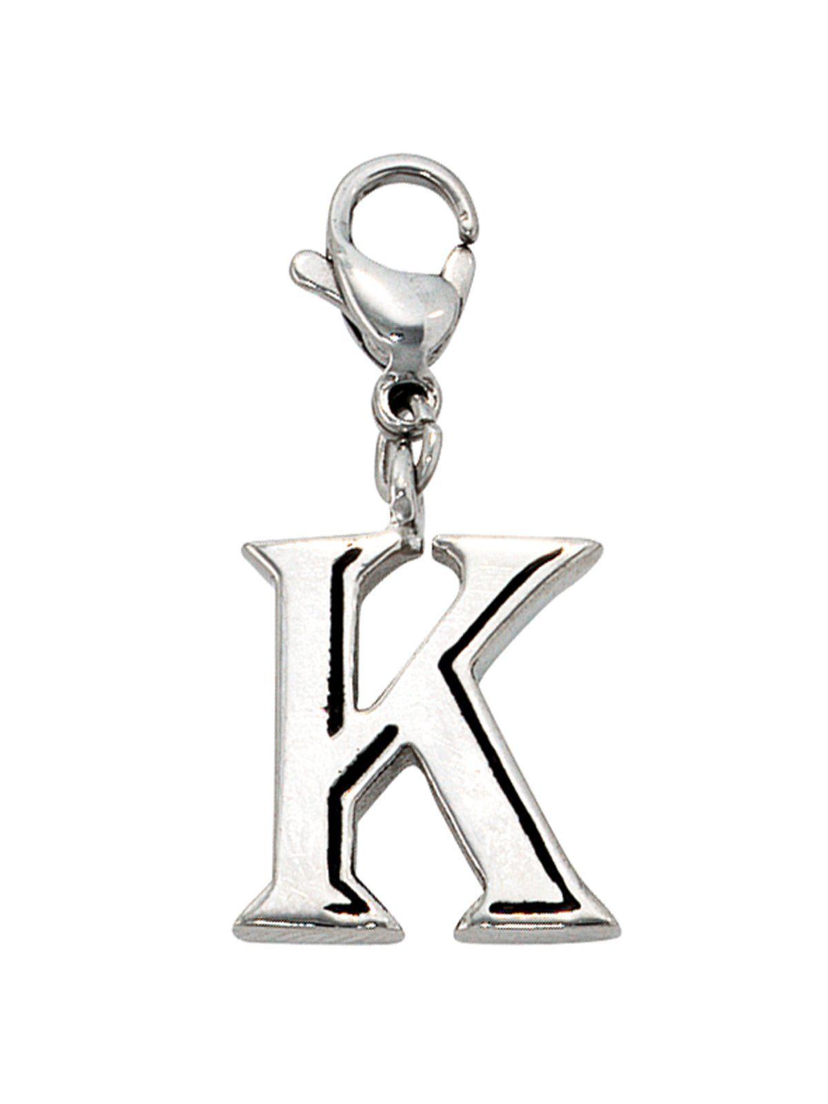 Adelia´s Kettenanhänger »Buchstabenanhänger K Anhänger« Edelstahl