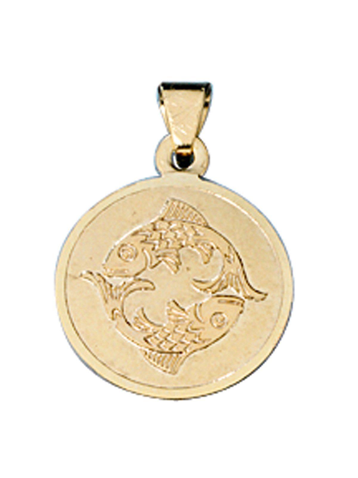 Adelia´s Sternzeichenanhänger »Sternzeichen Fische Anhänger« 333 Gold Ø 12,30 mm