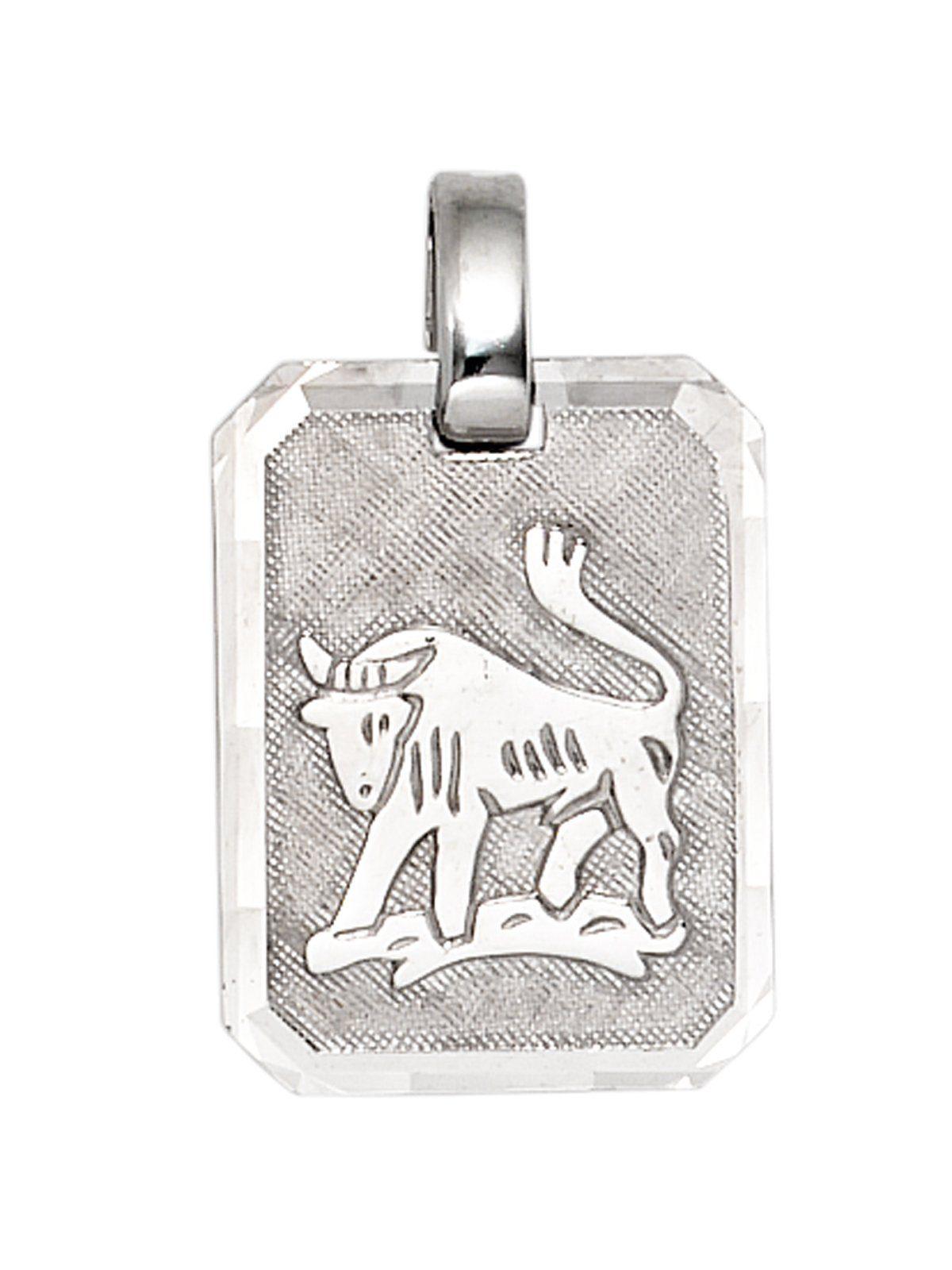 Adelia´s Kettenanhänger »Sternzeichen Stier Anhänger« 925 Silber