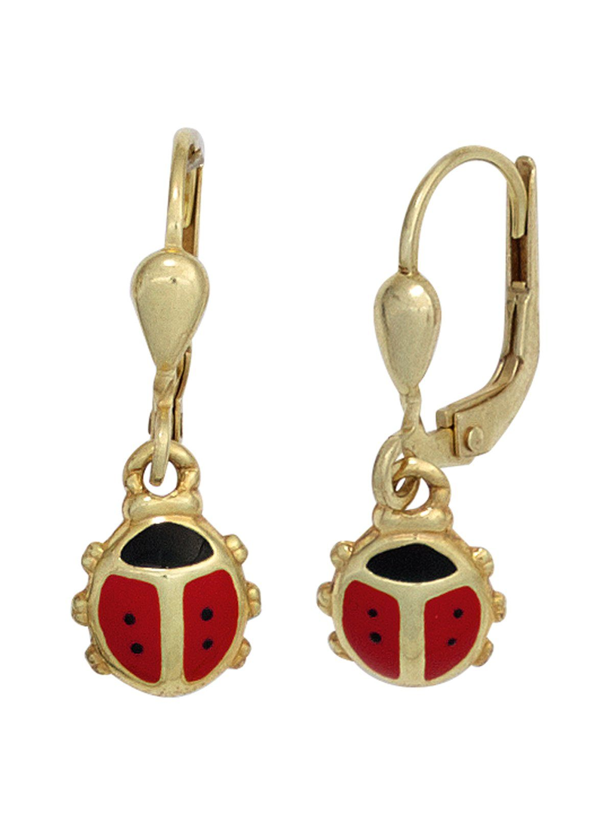 Adelia´s Paar Ohrhänger »Marienkäfer« 333 Gold
