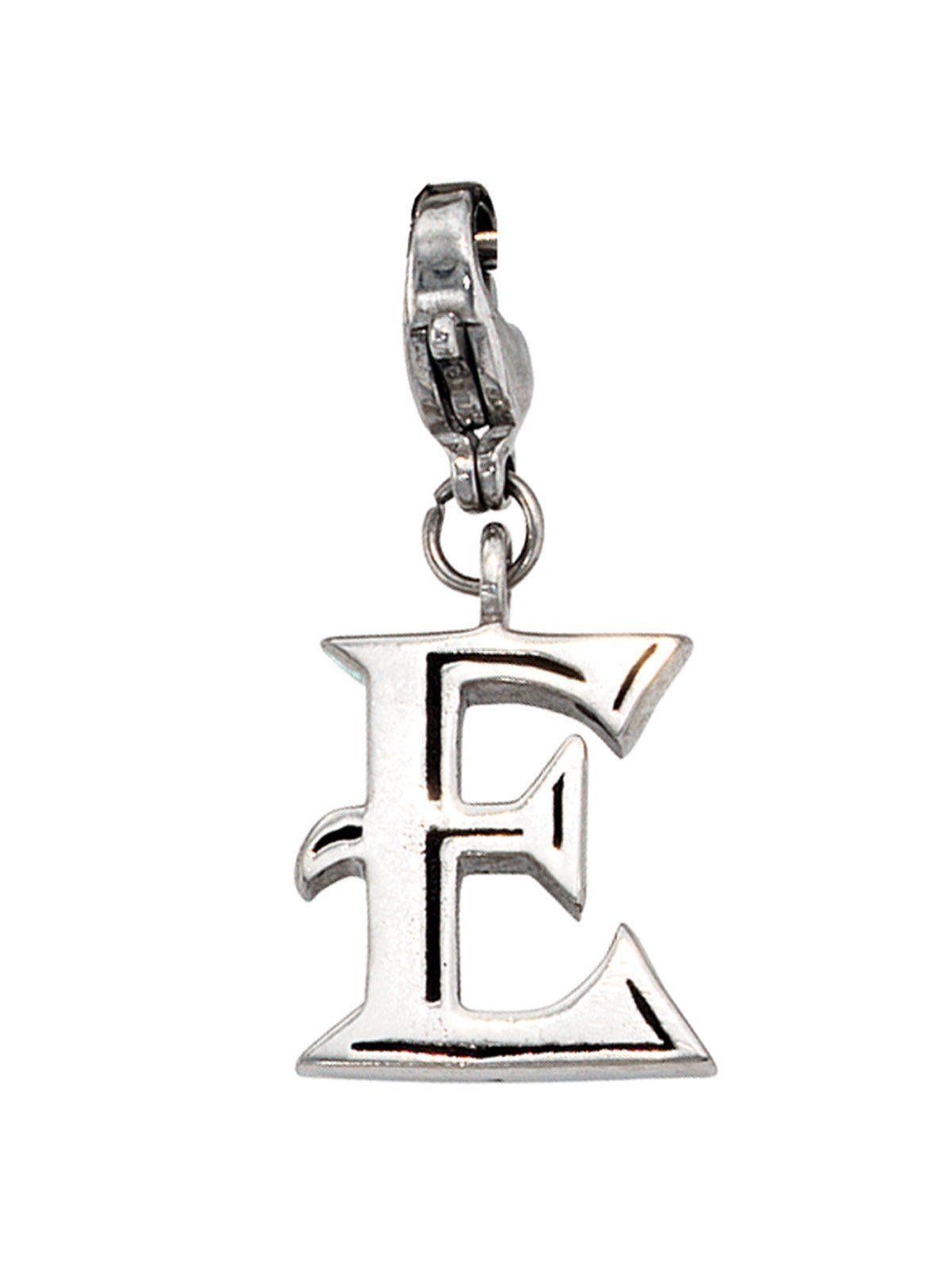 Adelia´s Kettenanhänger »Buchstabenanhänger E Anhänger« Edelstahl