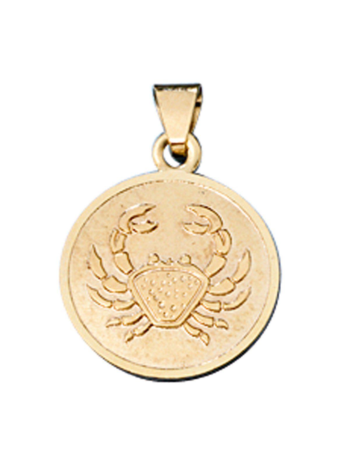 Adelia´s Kettenanhänger »Sternzeichen Krebs Anhänger« 333 Gold Ø 12,30 mm