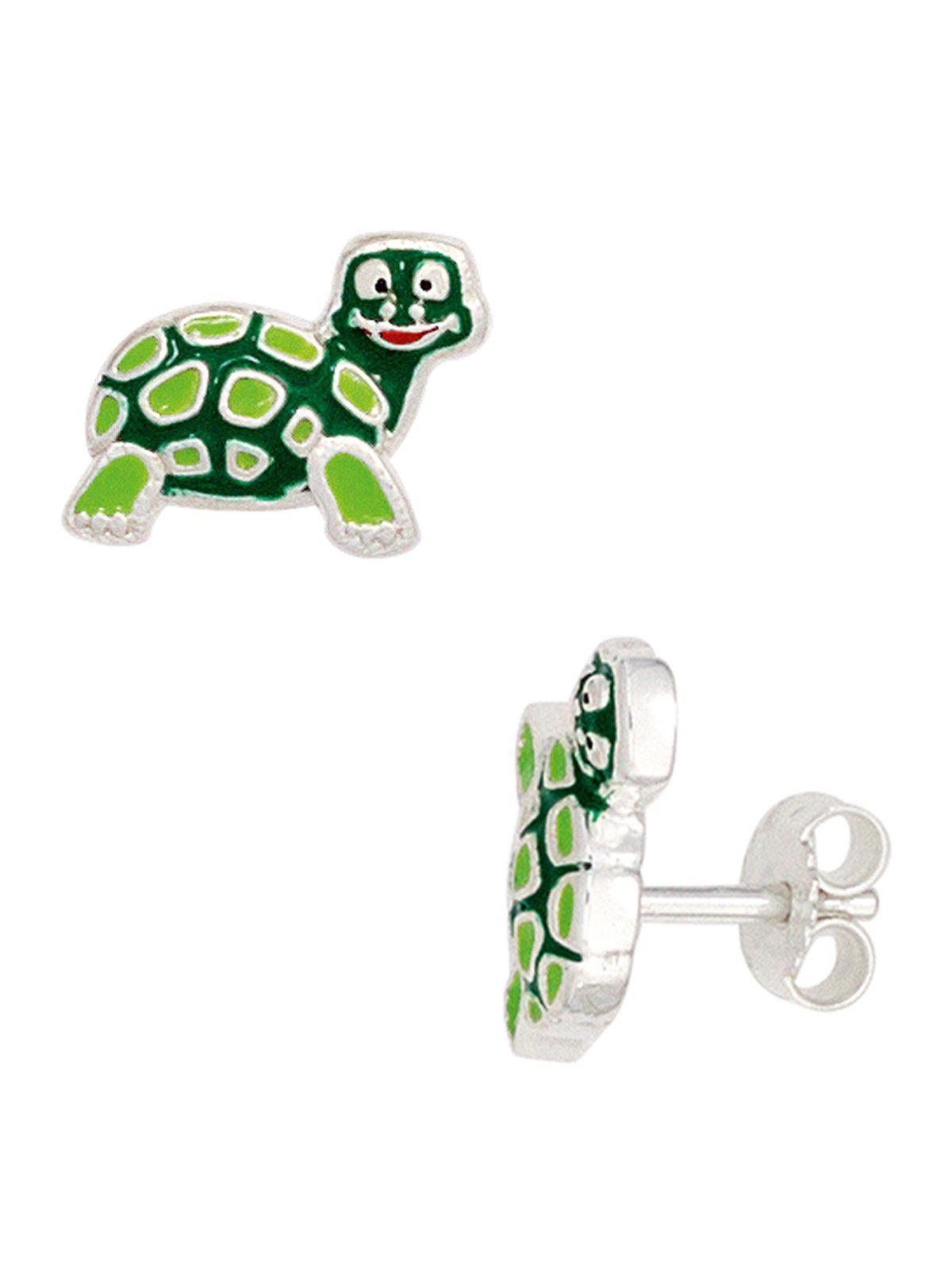 Adelia´s Paar Ohrstecker »Schildkröte« 925 Silber