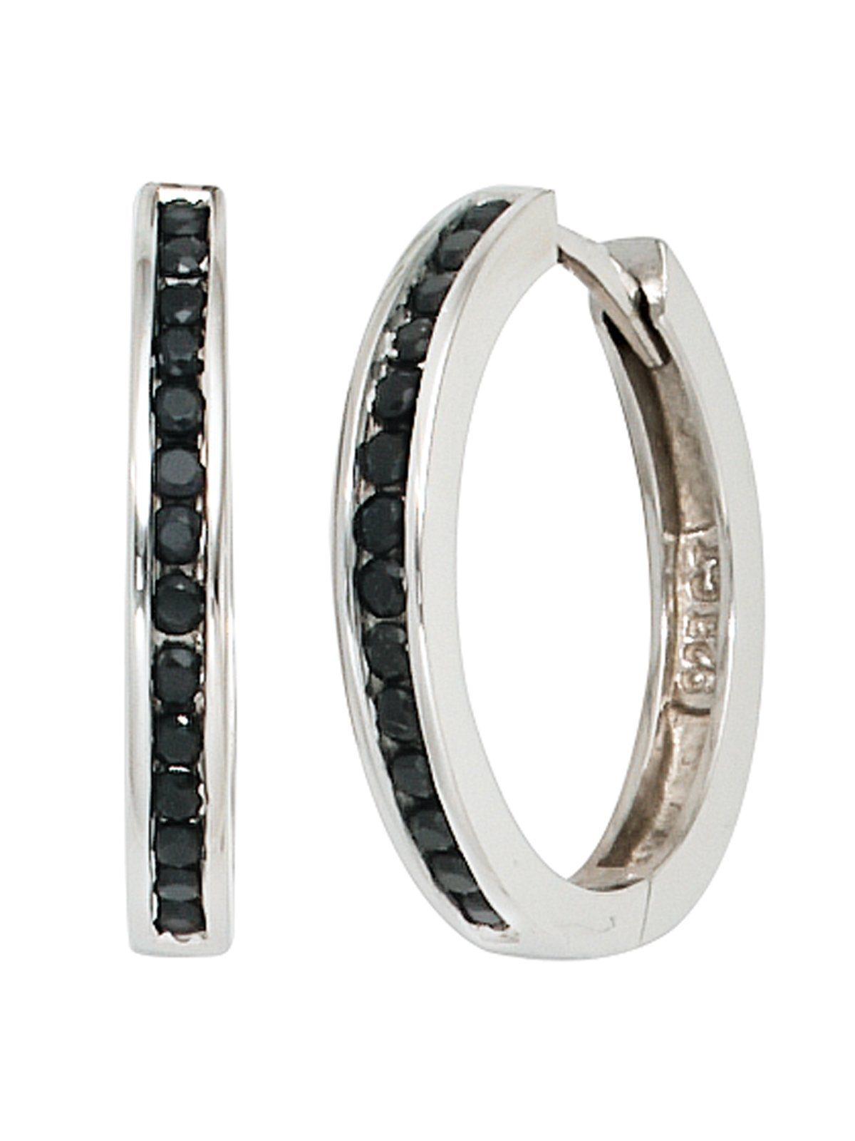 Adelia´s Paar Creolen 925 Silber mit Zirkonia Ø 19,10 mm | Schmuck > Ohrschmuck & Ohrringe > Creolen | Adelia´s