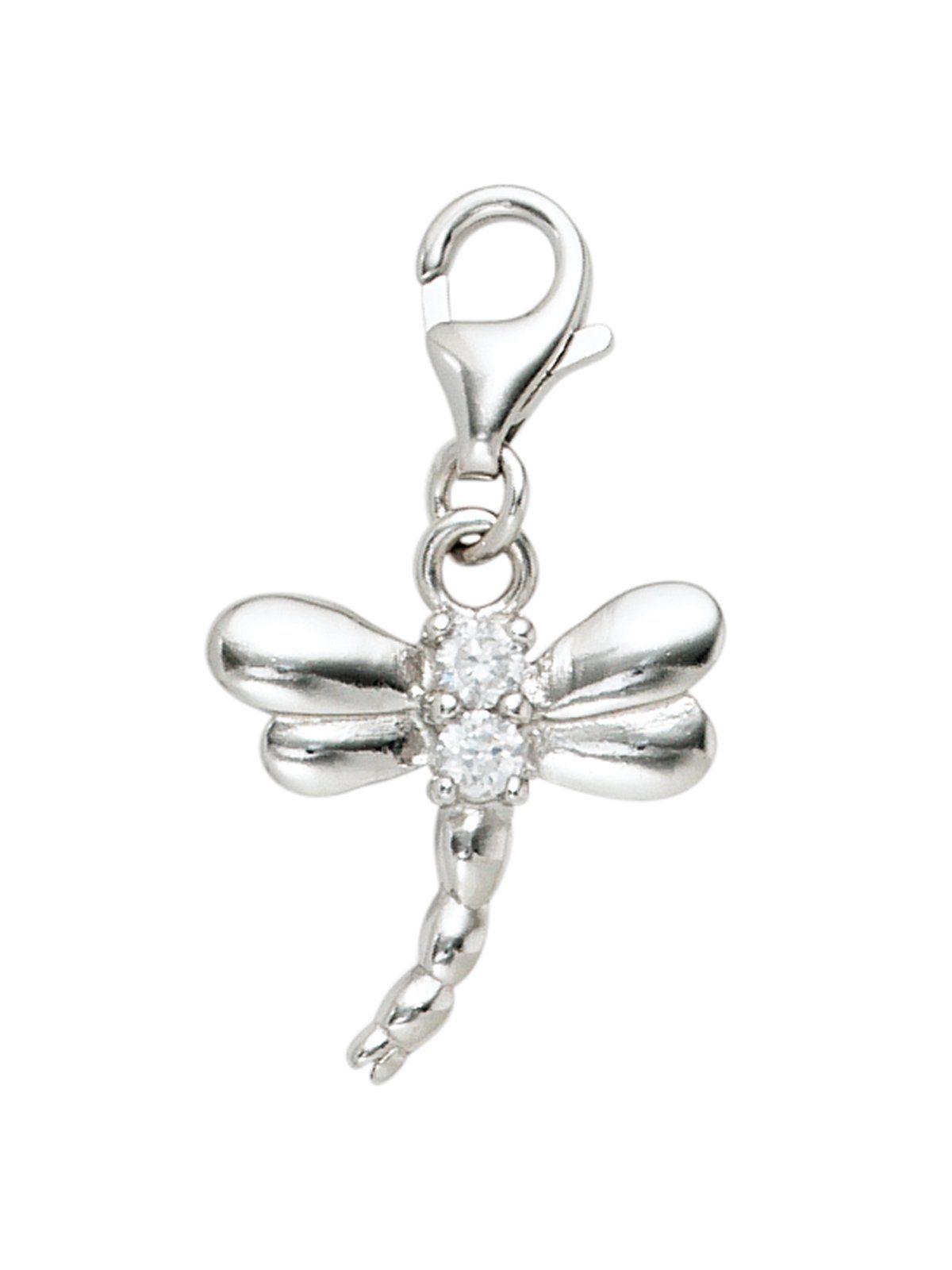 Adelia´s Kettenanhänger »Libelle Anhänger« 925 Silber mit Zirkonia