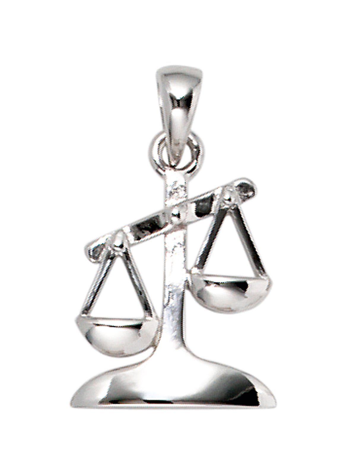 Adelia´s Kettenanhänger »Sternzeichen Waage Anhänger« 925 Silber