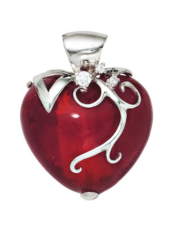 Adelia´s Kettenanhänger »Herz Anhänger« 925 Silber mit Glas Zirkonia | Schmuck > Halsketten | Adelia´s