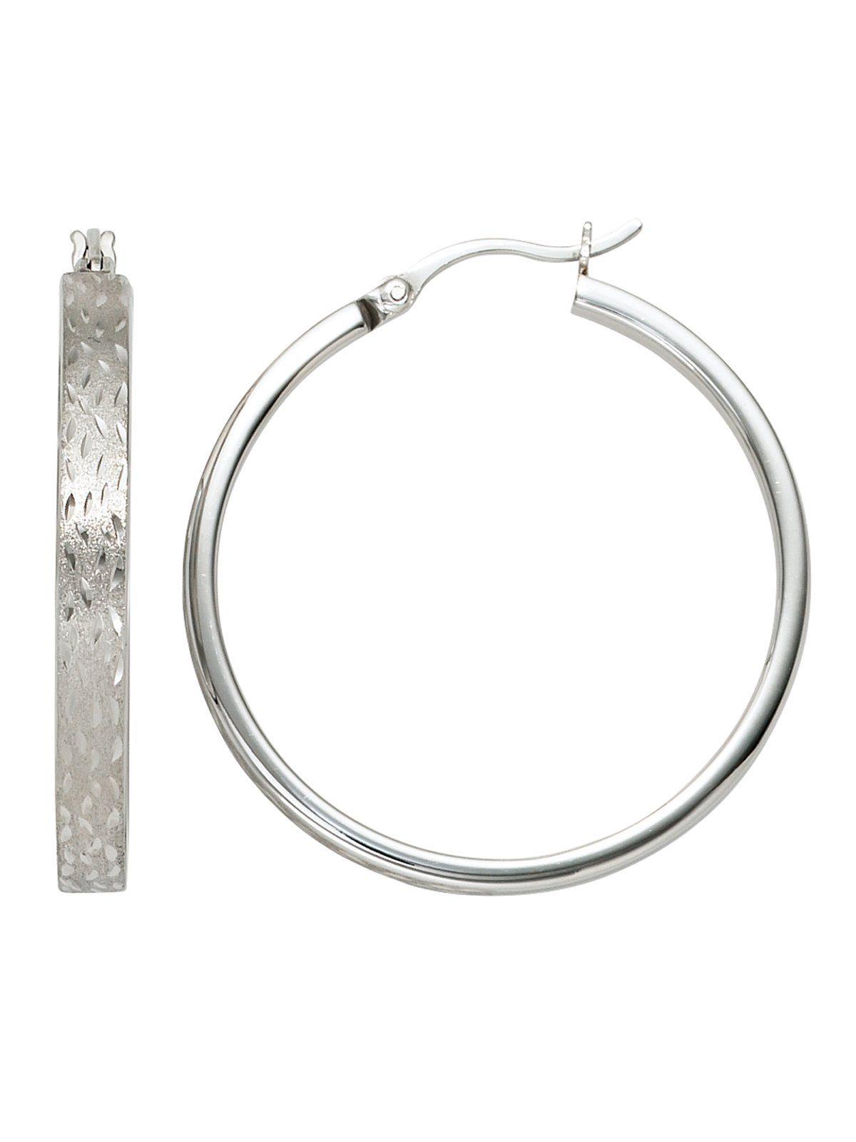 Adelia´s Paar Creolen, 925 Silber Ø 34,40 mm
