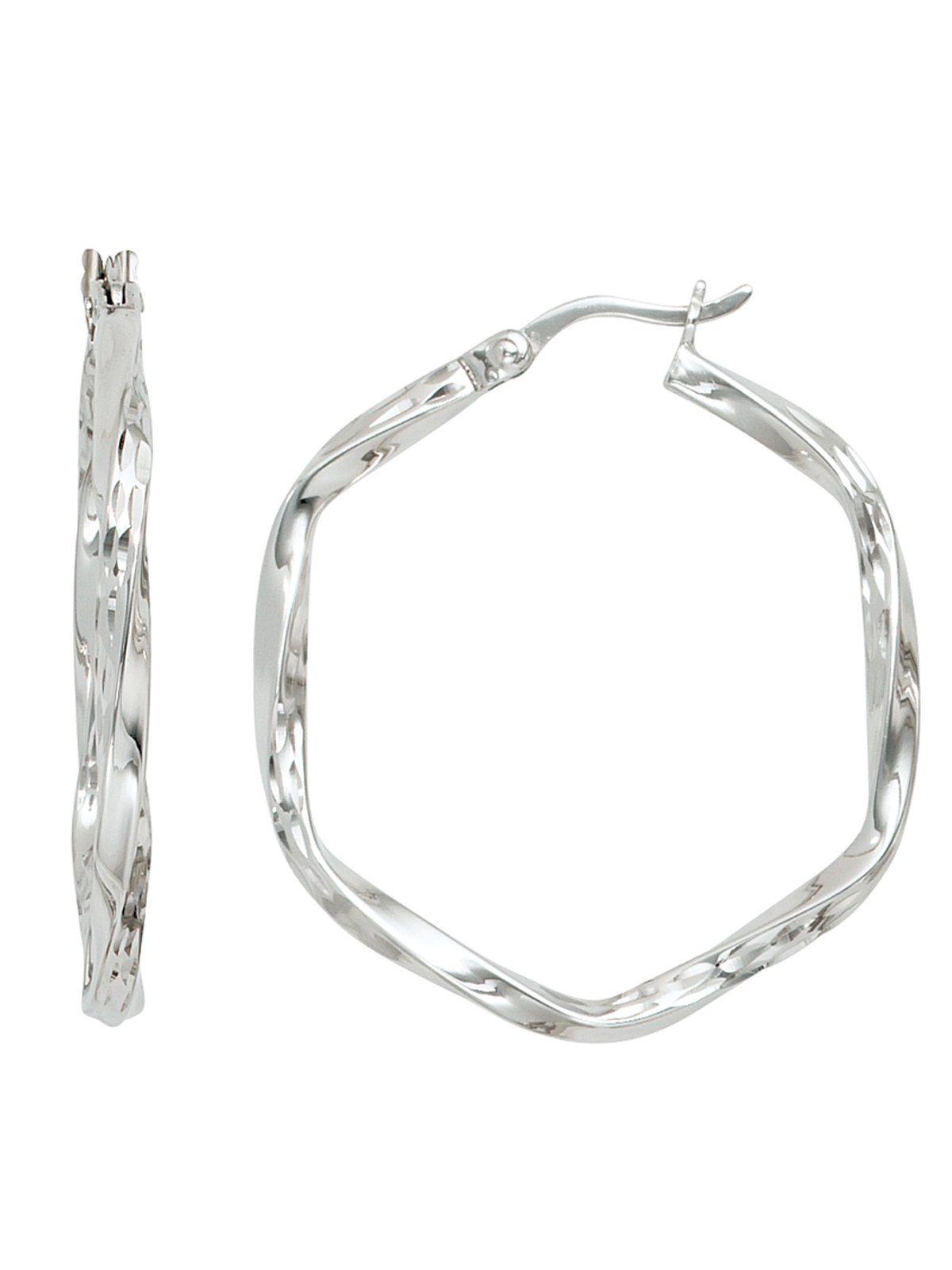 Adelia´s Paar Creolen 925 Silber Ø 31,20 mm