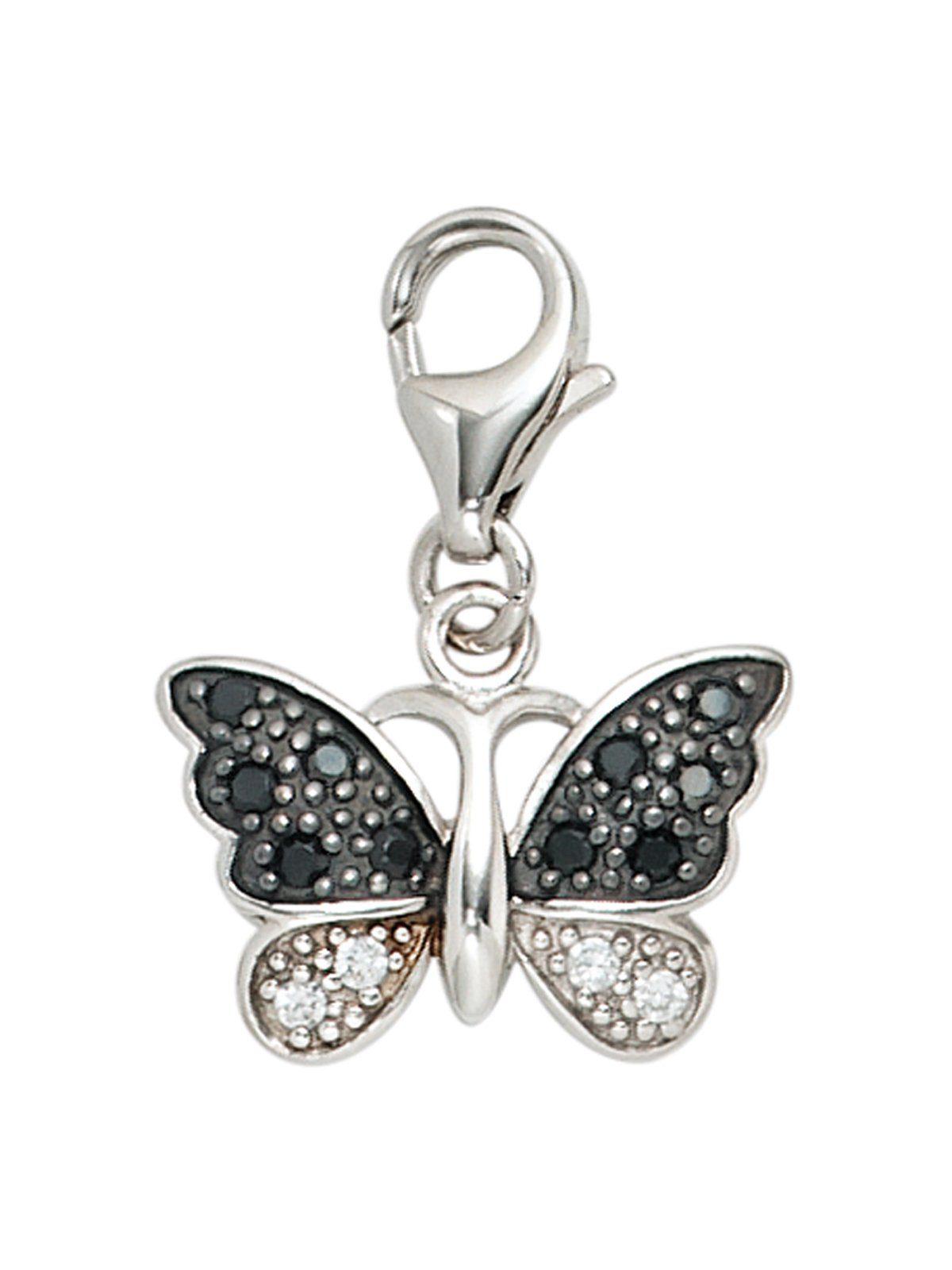 Adelia´s Kettenanhänger »Schmetterling Anhänger« 925 Silber mit Zirkonia