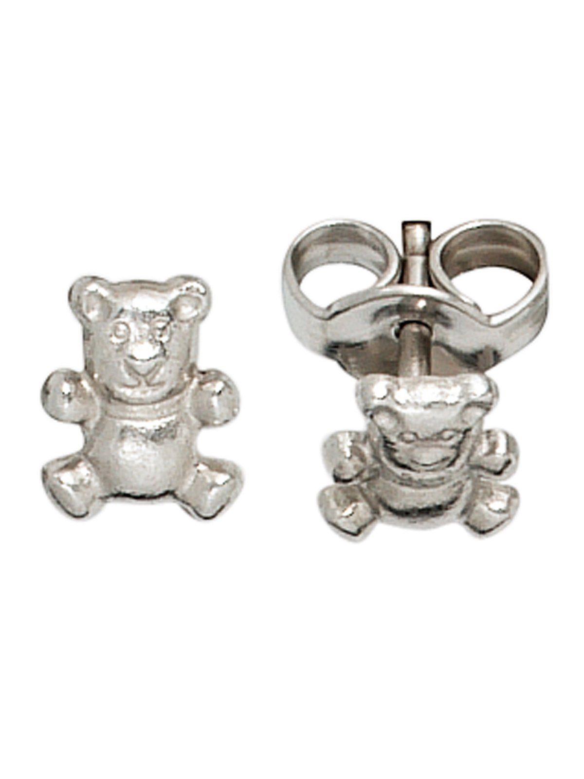 Adelia´s Paar Ohrstecker »Bär« 925 Silber