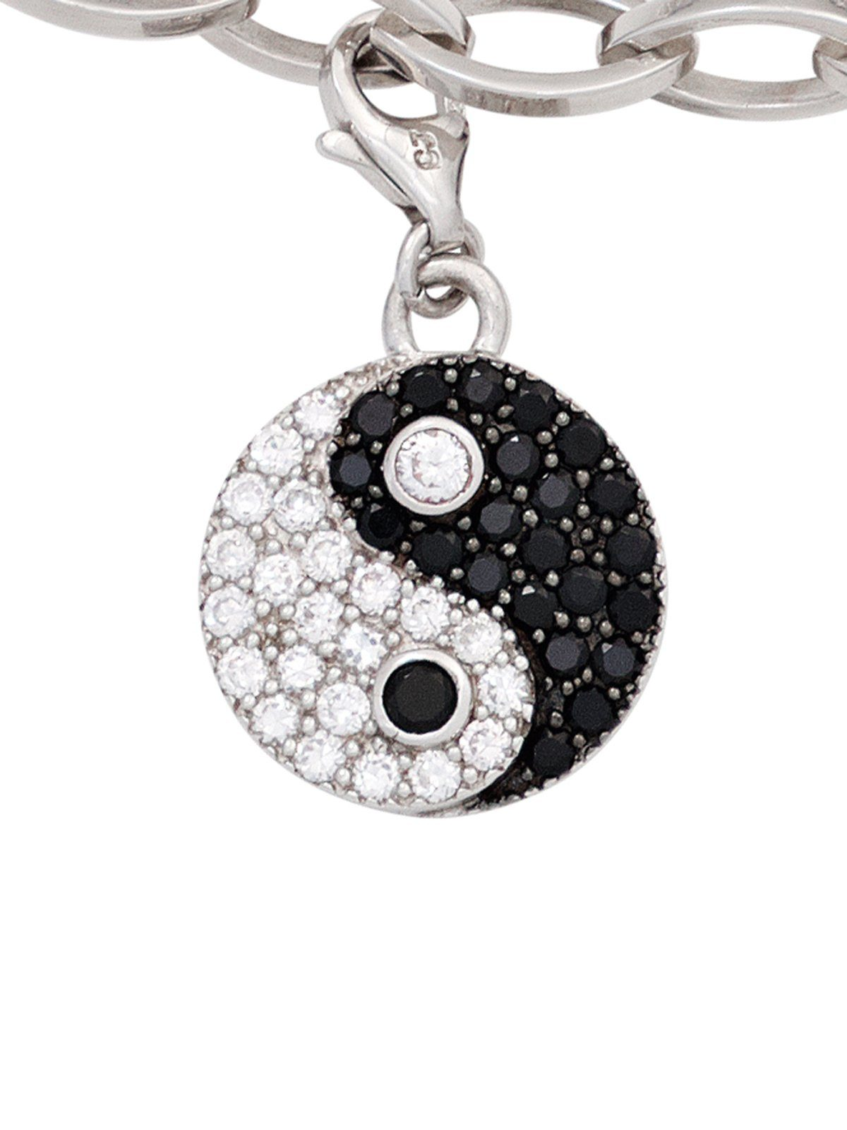 Adelia´s Kettenanhänger »Ying Yang Anhänger« 925 Silber mit Zirkonia